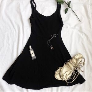 Express fit and flare mini dress